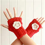 Crochet wrist warmers / gloves / toddler