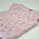 Ready to Ship Hand Knitted Pale Blush Pink Baby Vest with Capped Sleeves 6M - 9M