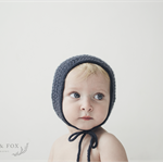 Made to Order Organic Merino Ribbed Baby Bonnet for NB to 2M Bub, Custom Colour