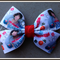 Harry 1D One Direction Print Bow