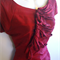 VINTAGE retro GORGEOUS Mad Men Cocktail Bridesmaid Red silk dress