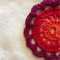 Set of 6 Sunburst Cotton Blend Hand Crochet Flower Coasters