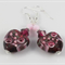 Cranberry & Pink Lampwork Earrings