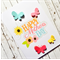 Happy Mother's Day Card with 3D butterflies in pastels