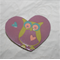 Owl Heart Brooch