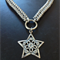 Silver Star Chainmaille Necklace