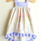 Little Miss Piggy High Low Hem Dress with Ruffles - Pinny 