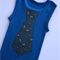 Boys Blue singlet with Wrench Spanner Tool Tie