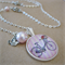 Shabby Chic Bicycle (Pink) Embellished Charm Necklace