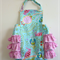 Bubble Romper, Ruffled Sunsuit, Bird of Paradise, Sizes 0-3 months to 12-18 mont