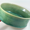 Ceramic Stoneware Bowl Wheelthrown Handmade Green Unique Home Decor