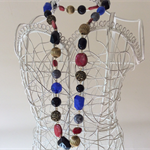 1 x bronze black red grey blue bead necklace view store for other necklaces