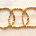 SIMPLE GOLD STACKING BRACELETS - THREE BRACELETS - FREE SHIPPING WORLDWIDE