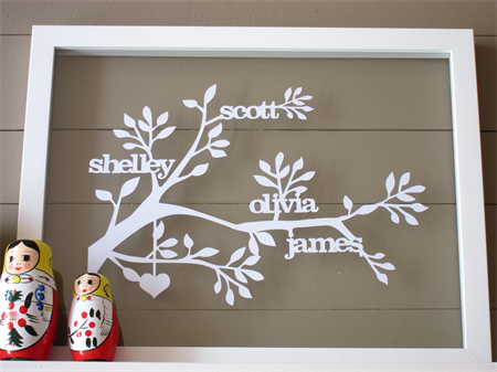 Family Branch Papercut - up to 6 names