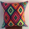Aztec Mexican Geometric Cushion Cover with Neon Pink back 50cm X 50cm
