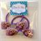 Disney Tangled Princess Rapunzel Hair Bow Elastic Ties 2 pack