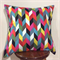 Geometric Arrow Multi-Coloured Cushion Cover with black on the back 50cm X 50cm