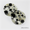 Black and White Buttons Drink coasters or paperweights - 2 pack - Resin