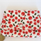 Coin or cosmetics purse - Free post in Oz!  Cherry print on calico.