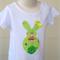 Girls Easter Bunny white Tshirt