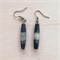 Natural black wood earrings.