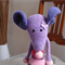Mindy the house mouse in pinks & purples: Washable, OOAK, present, baby shower