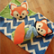Henry the Fox Snuggle Cuddle Lovey Blanket and Toy Softie