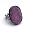 Ring pink dichroic glass