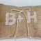 Personalised Burlap Ring Pillow. Rustic Monogrammed Wedding Ring Pillow.