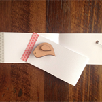 MINI GREETING CARD & BROOCH: A LITTLE BIRD TOLD ME SO
