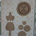 Birthday Card ~ Lover of Sewing Christmas Card Seamstress Card ~ Dressmaker Card