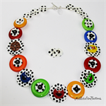 Classic Sesame Street Button Necklace - Jewellery - Bonus Earrings