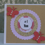 FREE POSTAGE Mini # 1 Mum Gift Card ~ Mother's Day Card ~ Card for Mum