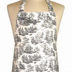 French Toile Style Fabric 'Kitchen Basics' Apron - Christmas Birthday, Gift Idea