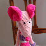 Mindy the house mouse in pinks & purples: Washable, OOAK