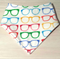 SUNGLASSES Organic cotton Bandana bib Super-Absorbent with Waterproof backing