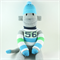 'Dominic' the Sock Monkey (turquoise, green, blue stripes) - *ready to post*