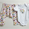 Little Miss Cupcake Harem Pants Set- Handmade, Mountain Pants / Aladdin Pants