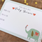 Set of 12 Magnetic Baby Shower Invitations (Elephant)