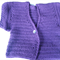 Purple cardigan short sleeved