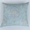 Lovebirds Boudoir Cushion Cover in Duck Egg Blue, Dove Grey and White
