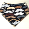 Geeky MUSTACHE Organic cotton Bandana bib Super-Absorbent with Waterproof backin