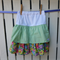 Green Spots and Summer Flowers Layered Girls Skirt - Size 5