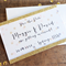 25 x Confetti and Glitter Gold Save the Date Invitations