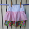 Pink Spots and Summer Flowers Layered Girls Skirt - Size 5