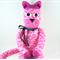 'Mindy' the Sock Kitty (pink leopard print) - *ready to post*