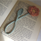 Linen Crochet Flower Bookmark
