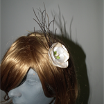 Bliss....Bride Wedding Guest Race Day Cocktail Hair Pin Head Pin Flower Feathers