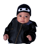 Baby Ninja Beanie Hat - Handmade from Luxury Natural Fibers.