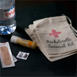 Bachelorette Survival Kit Muslin Favour Bags - Set of 10